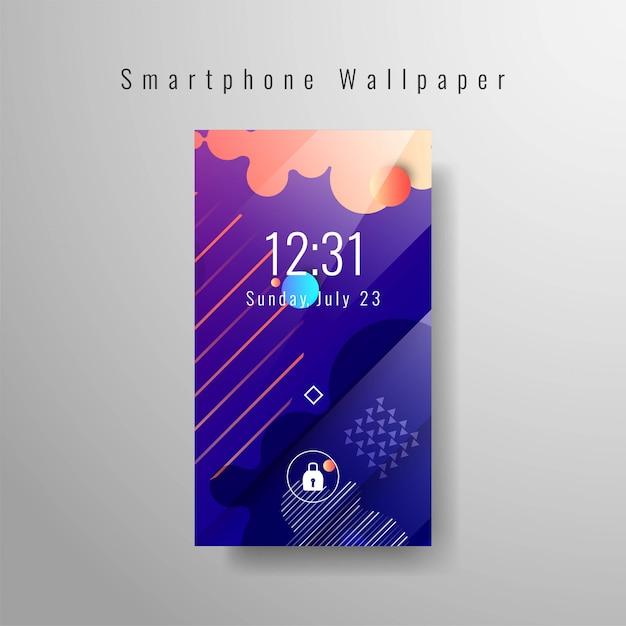 Fond d'écran élégant smartphone Vecteur gratuit
