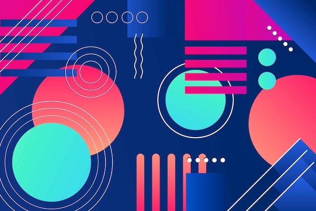 Fond D'écran De Formes Géométriques Dégradées Colorées Vecteur gratuit