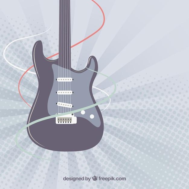 Fond D'écran De La Guitare électrique | Vecteur Gratuite