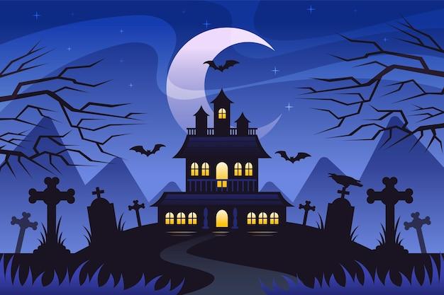 Fond D'écran Halloween Design Plat Vecteur gratuit