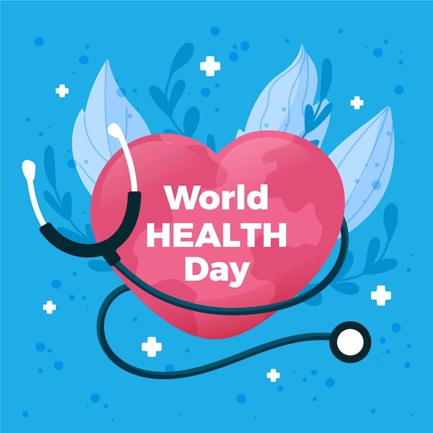 Fond D'écran De La Journée Mondiale De La Santé Vecteur gratuit