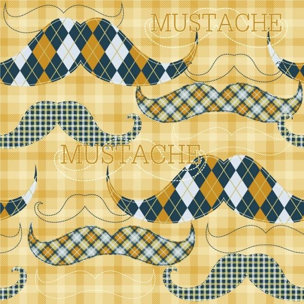 Fond D'écran De Moustache Vecteur gratuit