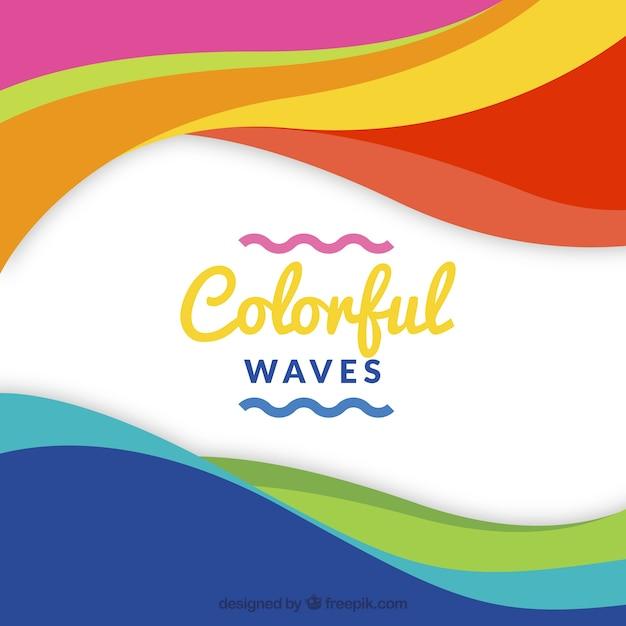 Fond d'écran multicolore Vecteur gratuit