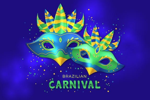 Fond D Ecran Realiste De Carnaval Bresilien Vecteur Gratuite