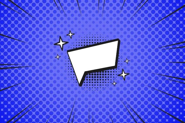 Fond D'écran De Style Bande Dessinée Design Plat Avec Bulle De Dialogue Vecteur Premium