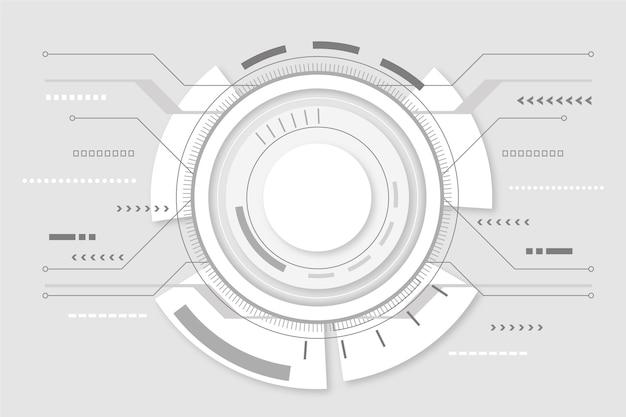 Fond D'écran De Technologie Futuriste Moderne Vecteur gratuit