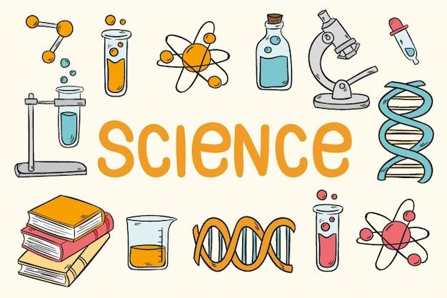 Fond D'écran Vintage De L'éducation Scientifique Vecteur gratuit