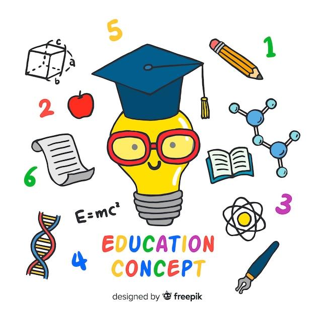 Fond d'éducation drôle Vecteur gratuit