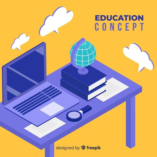 Fond d'éducation isométrique Vecteur gratuit