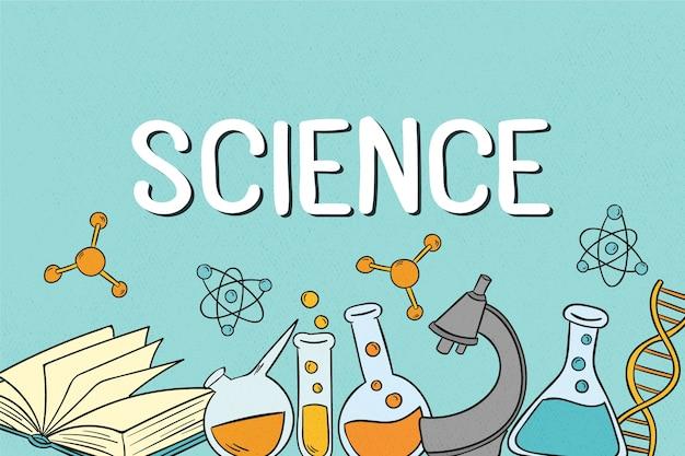 Fond D'éducation Scientifique Vintage Vecteur Premium