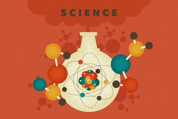 Fond D'éducation Scientifique Vintage Vecteur gratuit