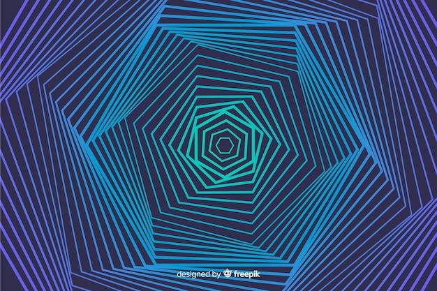 Fond d'effet illusion avec des lignes Vecteur gratuit