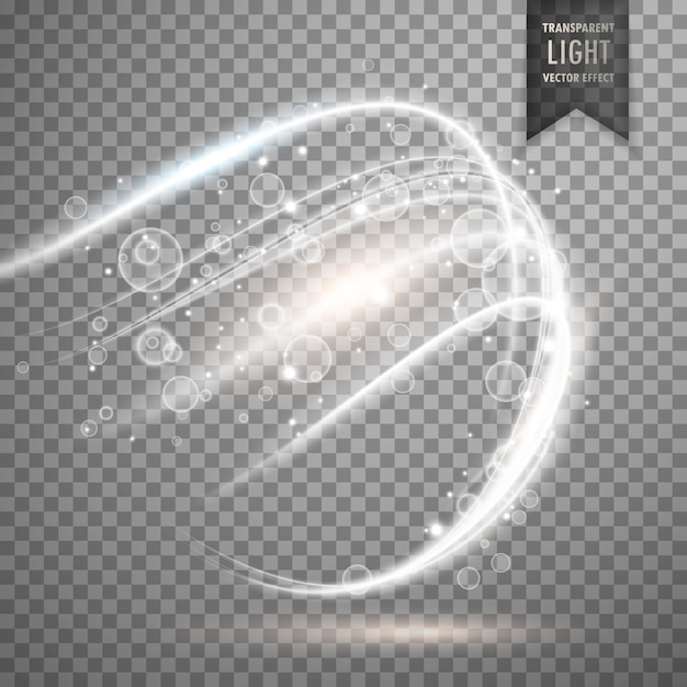 Fond effet de la lumière blanche transparente Vecteur gratuit