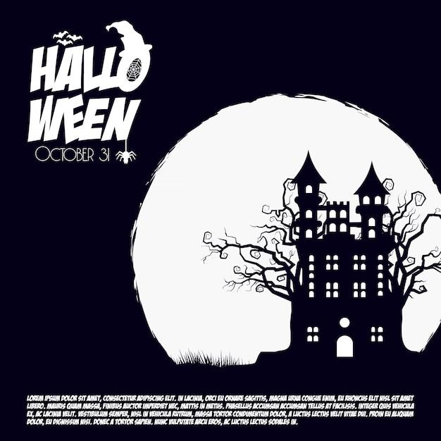 Fond effrayant d'halloween Vecteur gratuit
