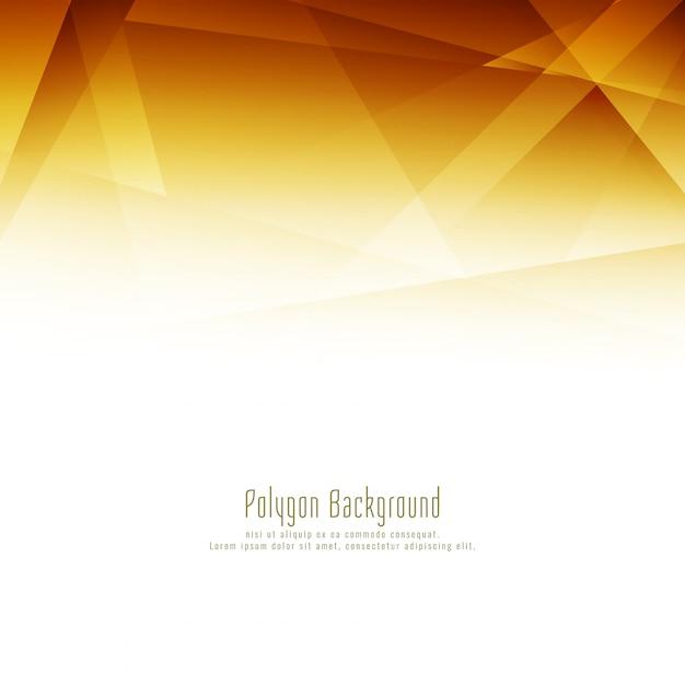 Fond élégant abstrait polygone lumineux design Vecteur gratuit