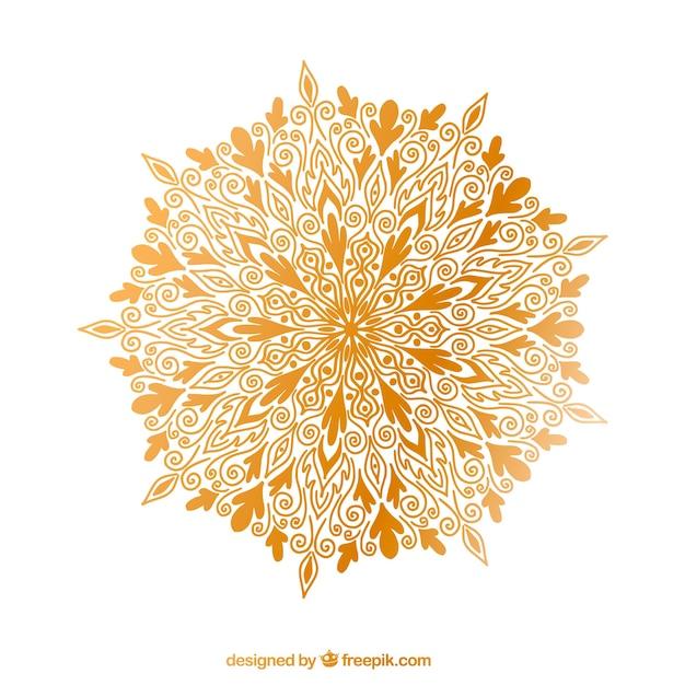 Fond De Elegante Mandala Vecteur gratuit