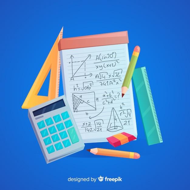 Fond d'éléments de dessin animé math Vecteur gratuit