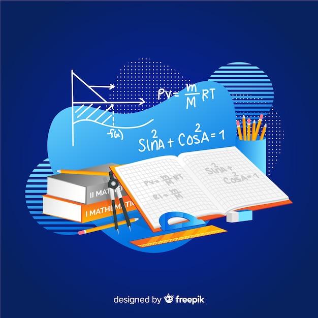 Fond d'éléments mathématiques dessin animé Vecteur gratuit