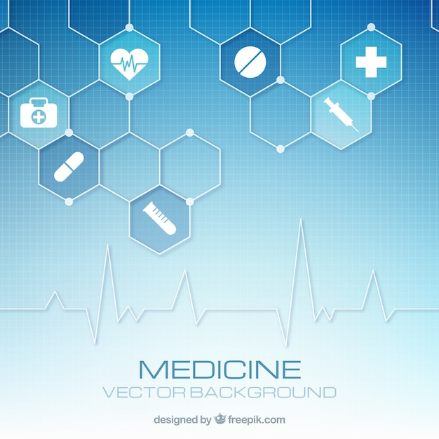 Fond d'éléments de médecine Vecteur gratuit