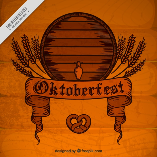 fond en bois vintage avec baril festival oktoberfest t l charger des vecteurs gratuitement. Black Bedroom Furniture Sets. Home Design Ideas