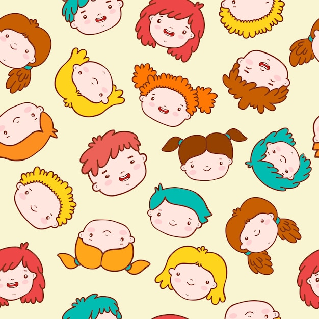 Fond d'enfants doodle Vecteur gratuit