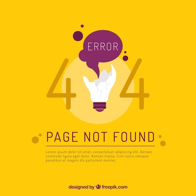 Fond d'erreur 404 Vecteur gratuit