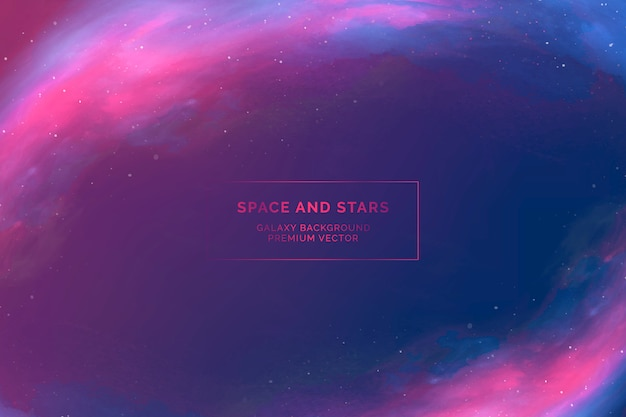 Fond De L'espace Extra-atmosphérique Vecteur gratuit