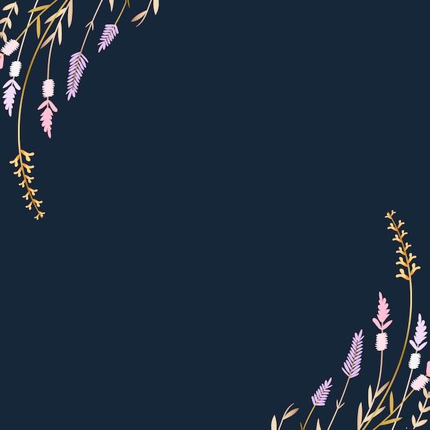 Fond d'été floral Vecteur gratuit