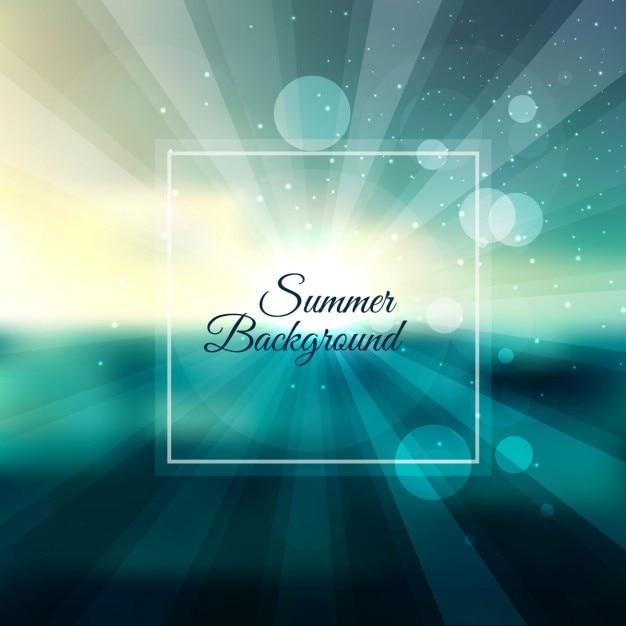 Fond D'été Lumineux Vecteur gratuit