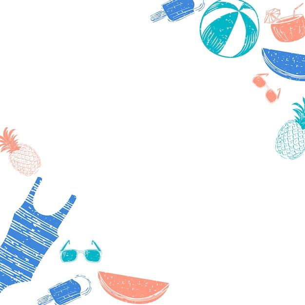 Fond d'été tropical Vecteur gratuit