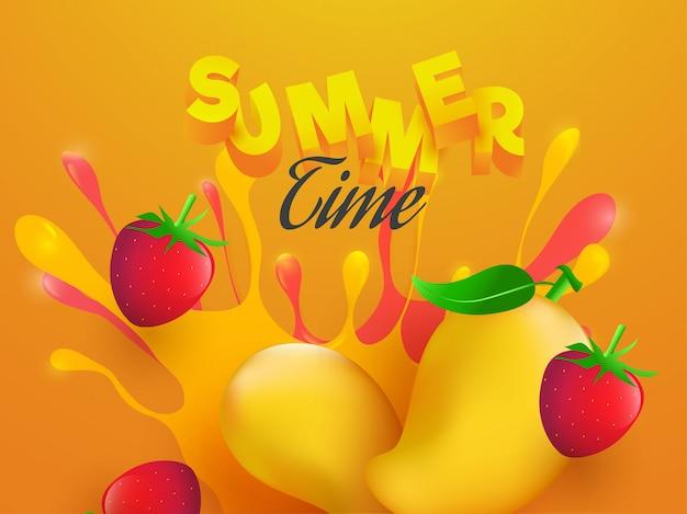 Fond de l'été. Vecteur Premium