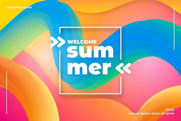 Fond d'été Vecteur gratuit