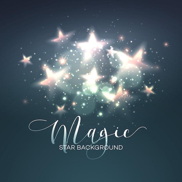 Fond d'étoile magique défocalisé. illustration vectorielle Vecteur Premium