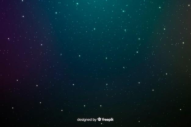 Fond D'étoiles Bleues Et Vertes Minuit Vecteur gratuit