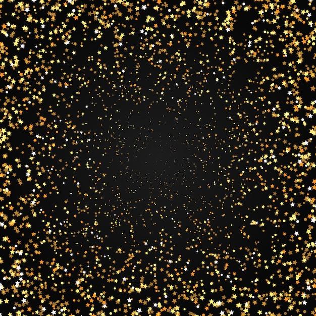 Fond d'étoiles d'or Vecteur gratuit