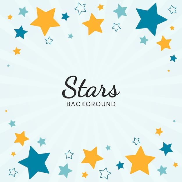 Fond d'étoiles Vecteur gratuit