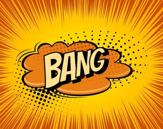 Fond avec explosion de bande dessinée boom Vecteur Premium
