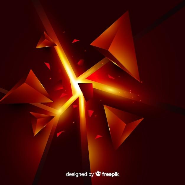 Fond d'explosion tridimensionnelle avec lumière Vecteur gratuit