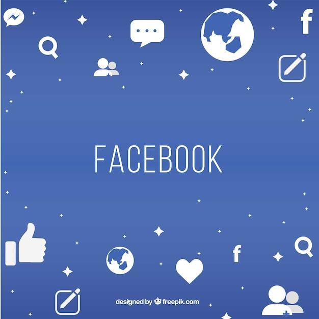Fond facebook Vecteur gratuit