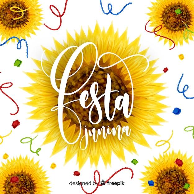 Fond festa junina Vecteur gratuit