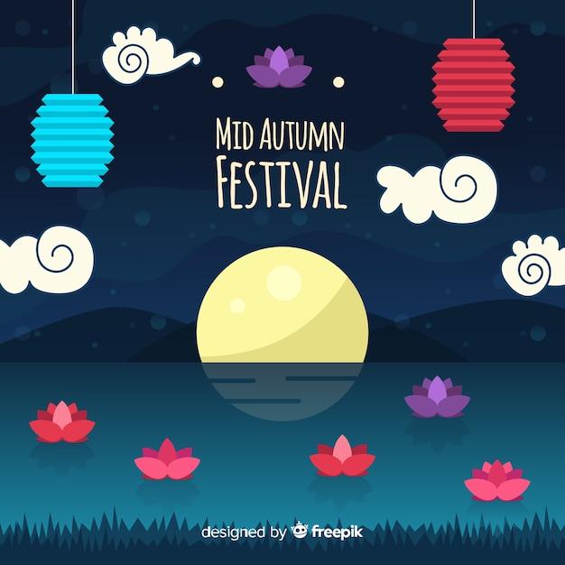 Fond de festival belle mi automne Vecteur gratuit