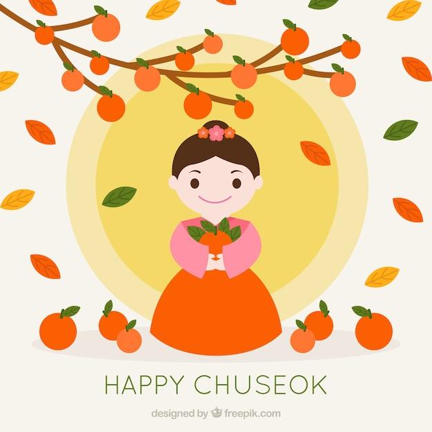Fond de festival de chuseak Vecteur gratuit