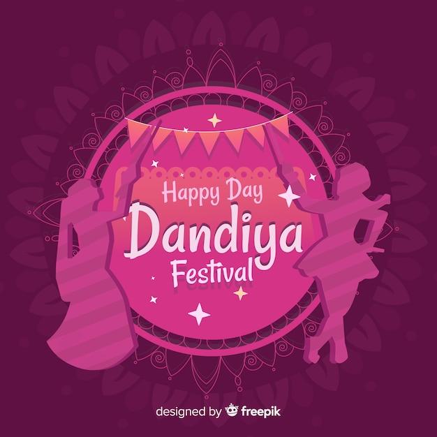 Fond de festival de dandiya Vecteur gratuit