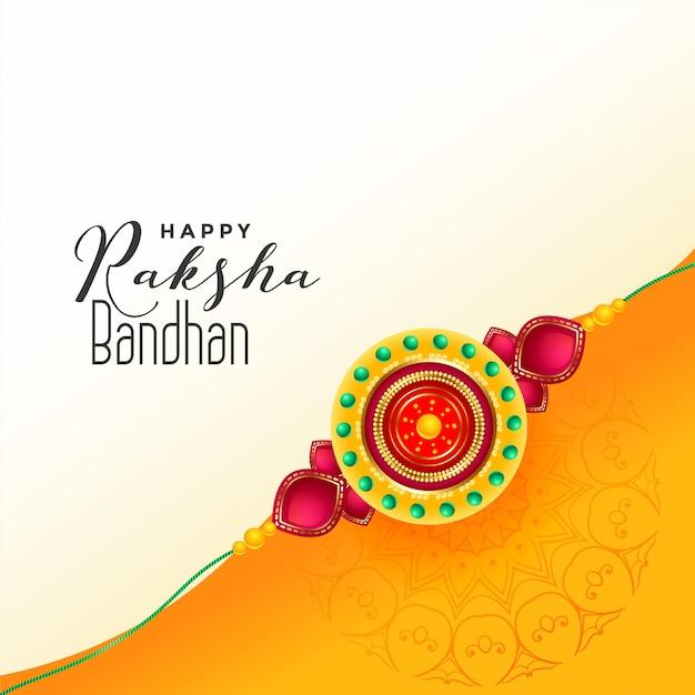 Fond de festival indien de raksha bandhan Vecteur gratuit