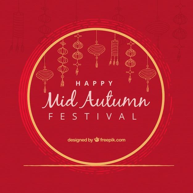 Fond de festival de mi automne Vecteur gratuit
