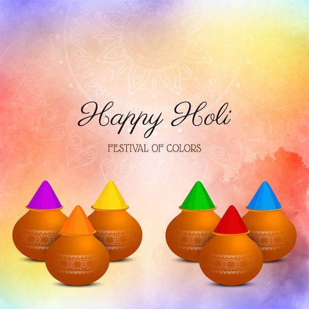 Fond De Festival Religieux Indien Holi Heureux Vecteur gratuit