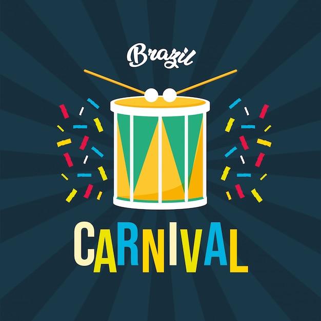 Fond de fête de carnaval du brésil Vecteur gratuit