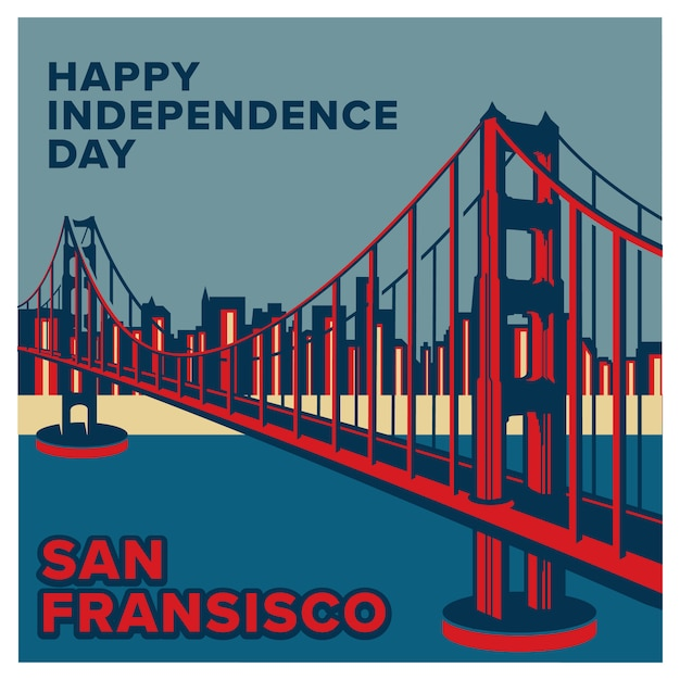 Fond de la fête de l'indépendance des états-unis d'amérique Vecteur Premium