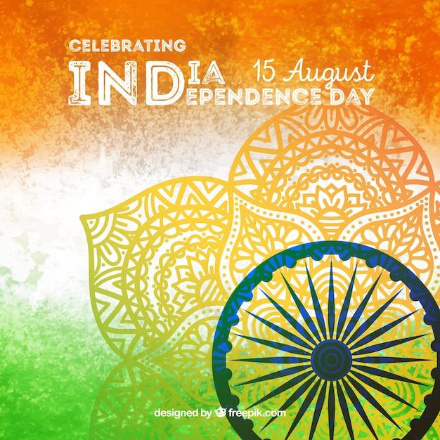 Fond de la fête de l'indépendance indienne créative Vecteur gratuit