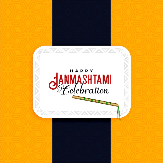 Fond de fête joyeux janmashtami festival Vecteur gratuit